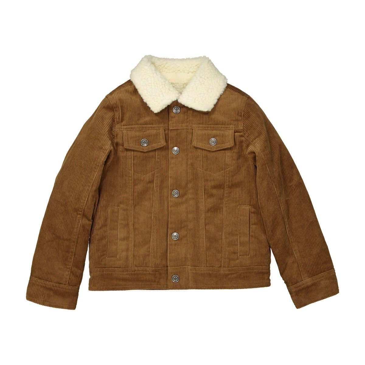 La Redoute Collections Big Boys Velour Jacket Sherpa Collar, 3-12 Years