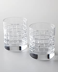 Waterford Fine Crystal London 2 Double Old Fashioned Glasses, DOF Pair