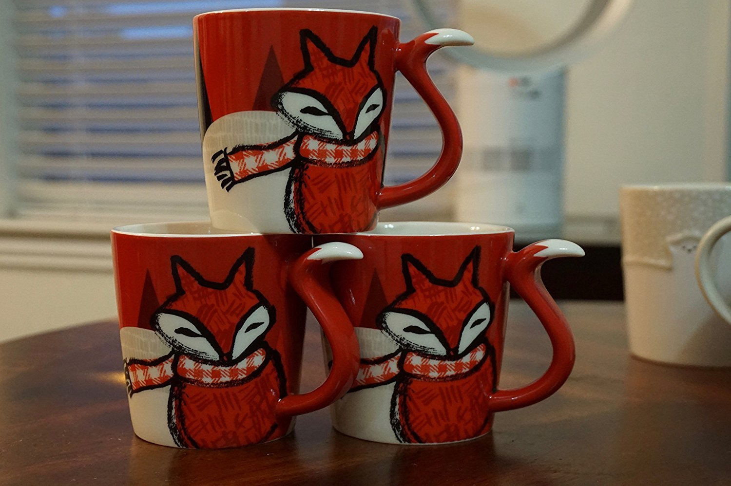 RARE Starbucks Holiday RED FOX Mug 12 Oz. 2016 by Starbucks (Image #2)