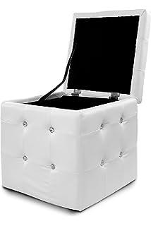 Design Sitzwürfel Kubus I Hocker Kunstleder modern 45x45x45 cm in ... | {Hocker modern 38}