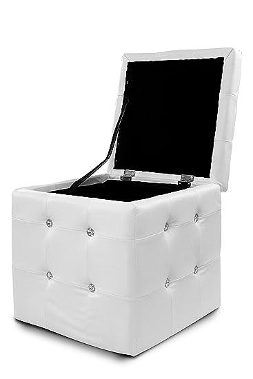 hocker mit stauraum wei. Black Bedroom Furniture Sets. Home Design Ideas