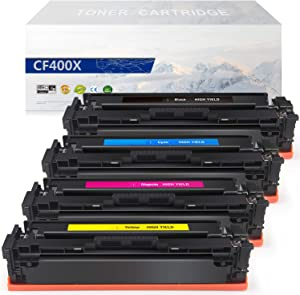 MYTONER Compatible Toner Cartridge Replacement for HP 201X CF400X CF401X CF402X CF403X (Black Cyan Magenta Yellow, 4-Pack)