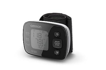 OMRON HEM-6140-E - Tensiometro de muneca, medicion rapida, color negro