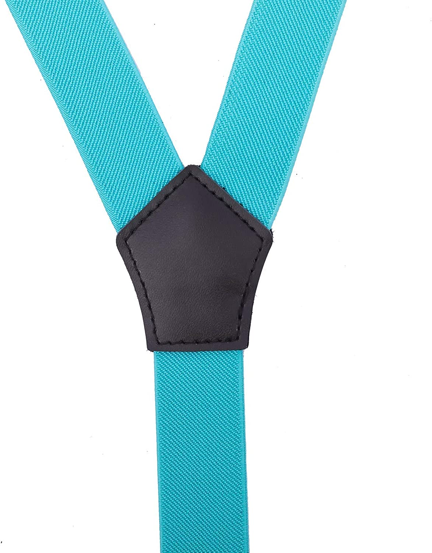 CEAJOO Men Boys Suspenders and Bow Tie Set Adjustable with Black Metal Clips