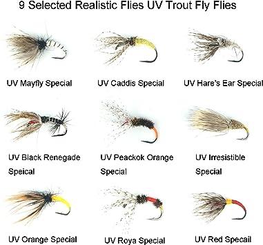 Riverruns Realistic Flies Mayfly Dry Flies Colors Trout UV Super Sturdy flies