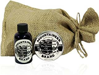 product image for Pre-Shave Oil & Post -Shave Balm Combo by Mountaineer Brand: Soften before and Soothe after shaving (Eucalyptus)