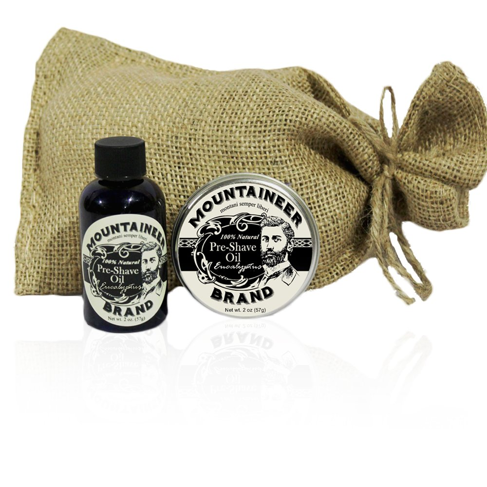 Mountaineer Brand 100% Natural Pre-Shave Oil/Post-Shave Balm Combo