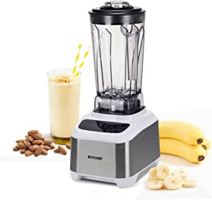 BioChef Atlas Power Blender 1000W High Performance Commercial Blender - Premimum Brushless Motor, 10 Year Warranty, Super Quiet Operation (75dB), 16 Speeds & Pulse Function, 64 oz Jug (White)