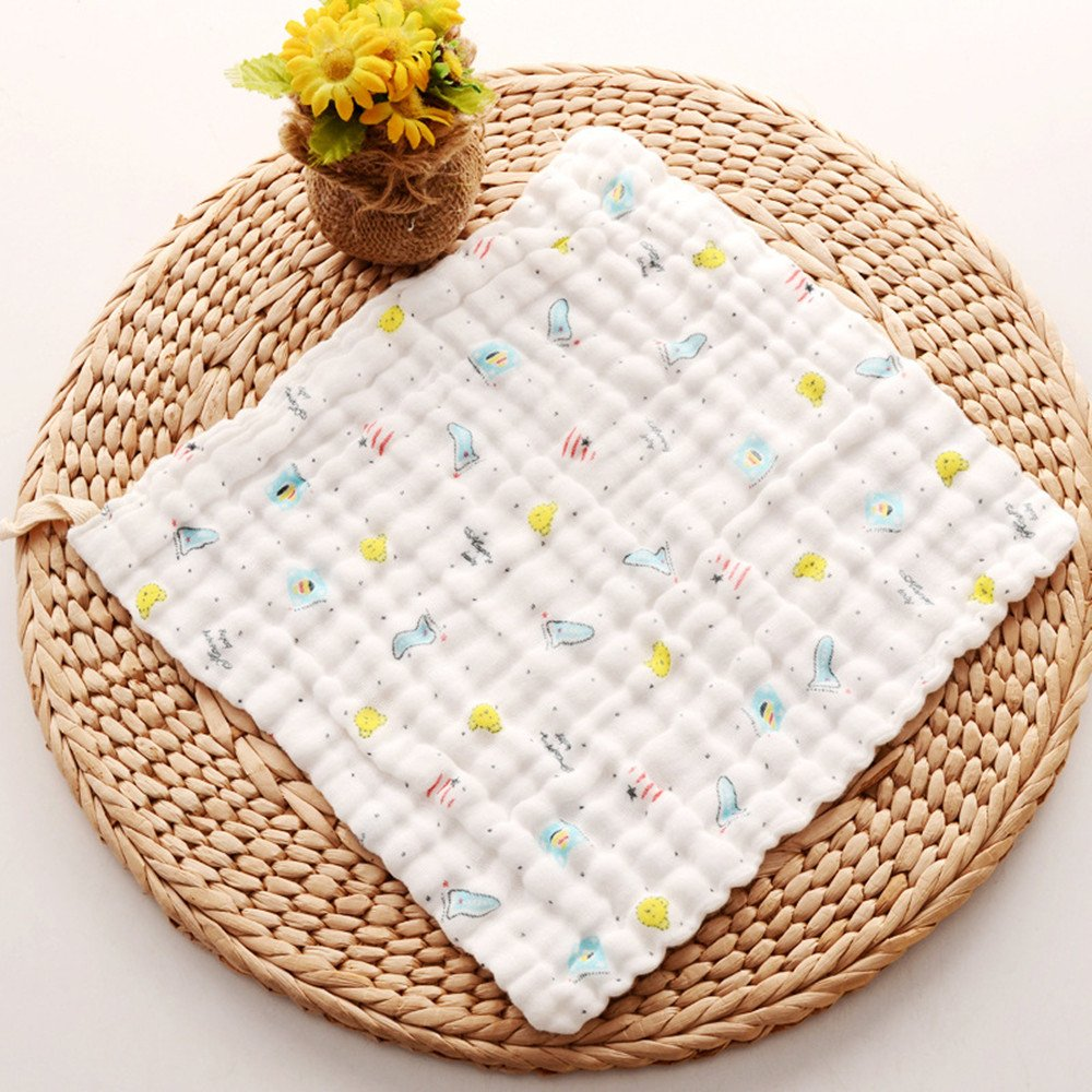 EXQULEG nat/ürliche Baumwolle Musselin Baby-Handtuch Mode Cartoon Druck Handt/ücher Gesicht Handtuch f/ür neugeborene Babys 30 4 St/ück 30cm