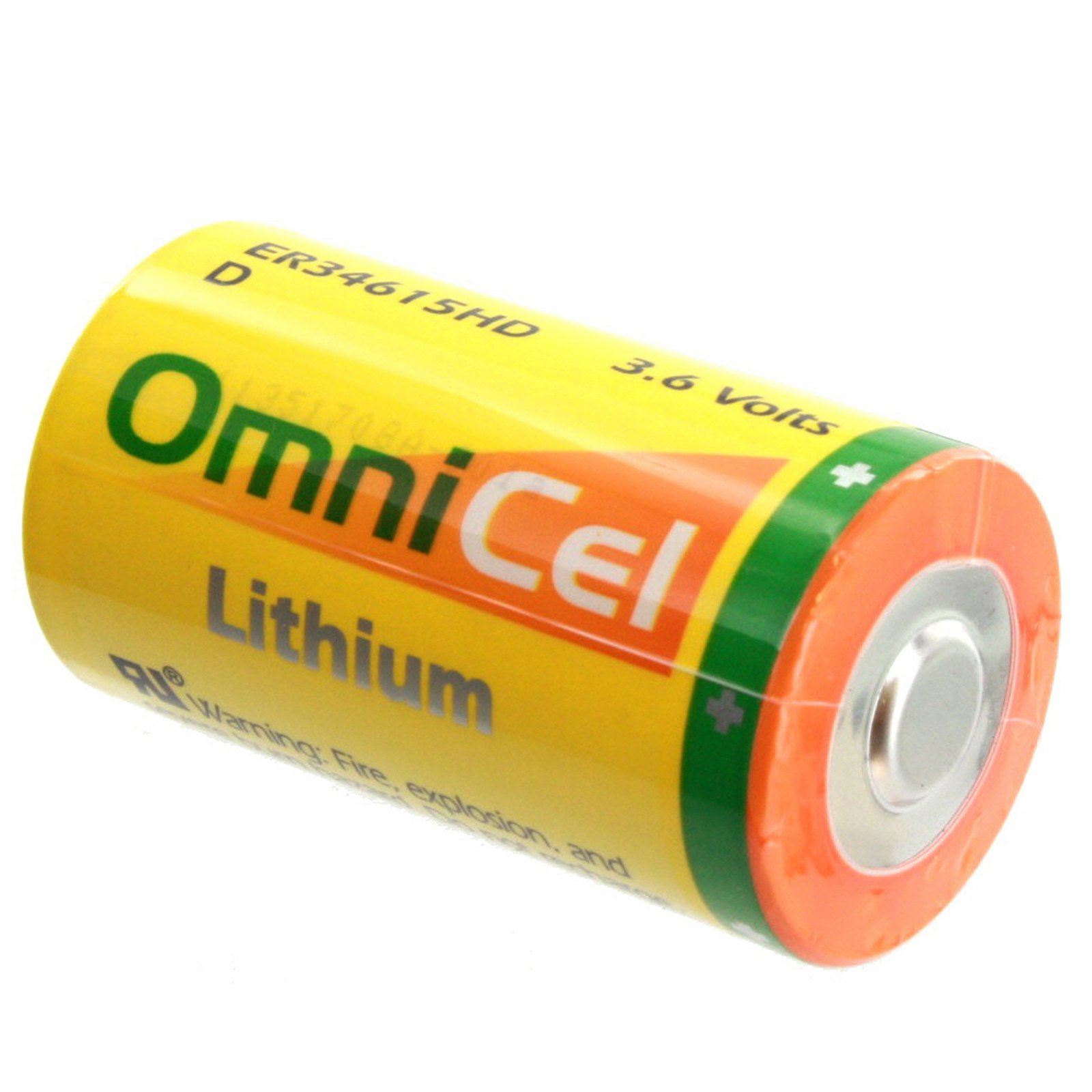 OmniCel ER34615HD 3.6V 13Ah Size D Lithium Standard Terminal Replaces Eagle Pitcher PT-2300, Saft LS-33600 LS33600C LSH20, Tadiran TL-2300 TL-4930 TL-5930, Tekcell SB-D01 SB-D02, Xeno XL-200F XL-205F by Exell Battery