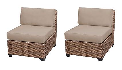 Amazon.com: TK Classics Laguna Armless sofá, Trigo: Jardín y ...