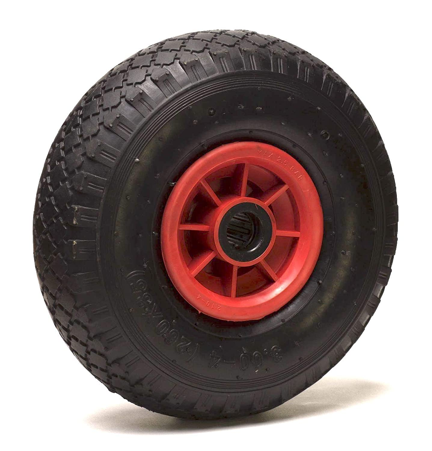 81400251 Pneumatic Wheel with Plastic Body, Diameter 260  x 85  mm, Bore 25 mm Diameter 260 x 85 mm Roues-et-Roulettes.com