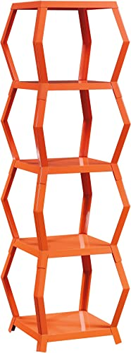 Sauder Soft Modern Tower Etagere, Orange Blush finish