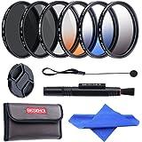 Beschoi Filtro Nd + CPL, Kit Filtri 11 Pcs Accessori per Canon Nikon Sony Pentax Sigma DSLR 67mm