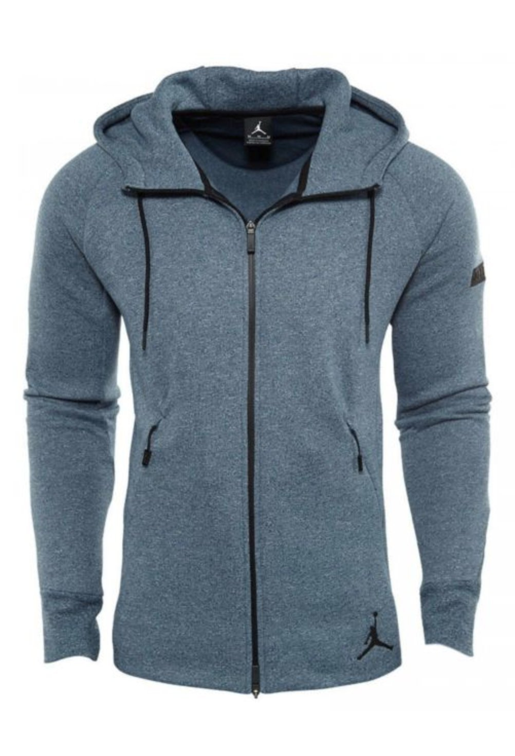 Nike Air Jordan Tech Fleece Performance Full Zip Hoody Sweatshirt (XL, Blue) by NIKE
