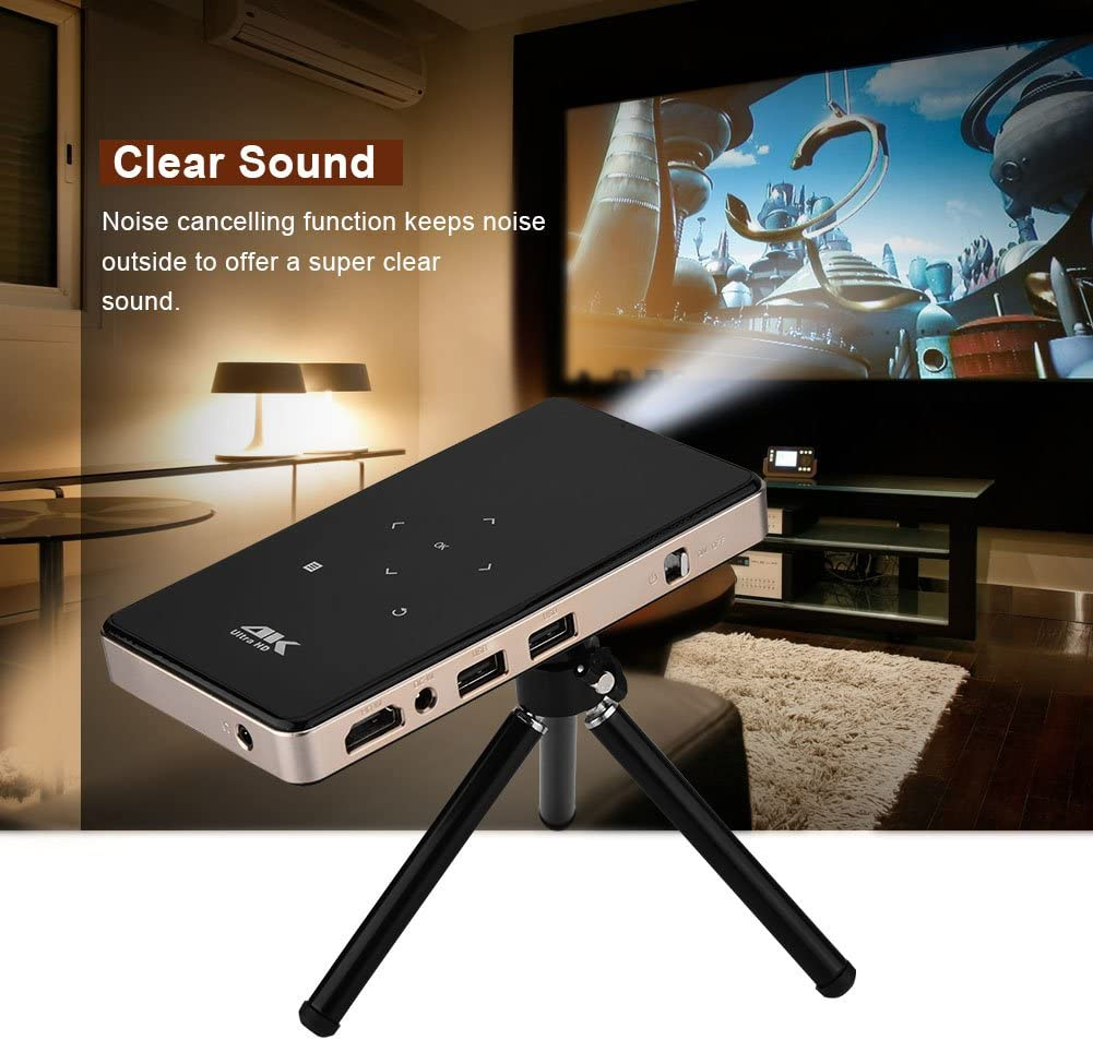 Tosuny Micro Proyector WiFi 1080P 4K Proyección 30-120inch 30000 ...