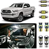 AUTOGINE Super Bright 6000K White LED Interior Light Kit Package for 2016 2017 2018 2019 2020 2021 Toyota Tacoma + Install To