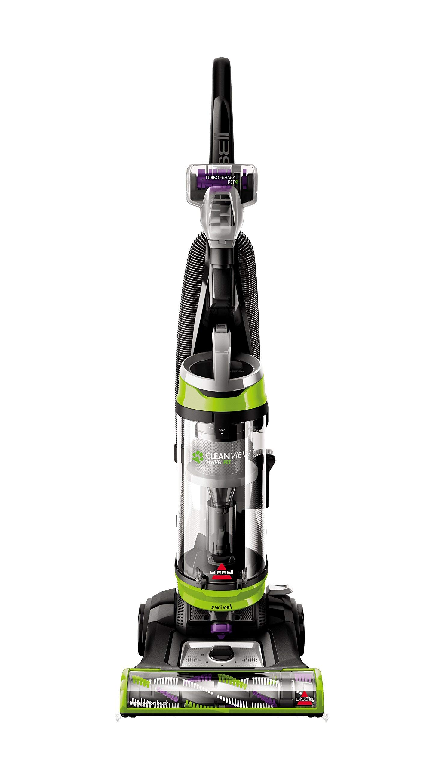 BISSELL Cleanview Swivel Pet Upright Bagless Vacuum Cleaner, Green, 2252 (Renewed) by Bissell