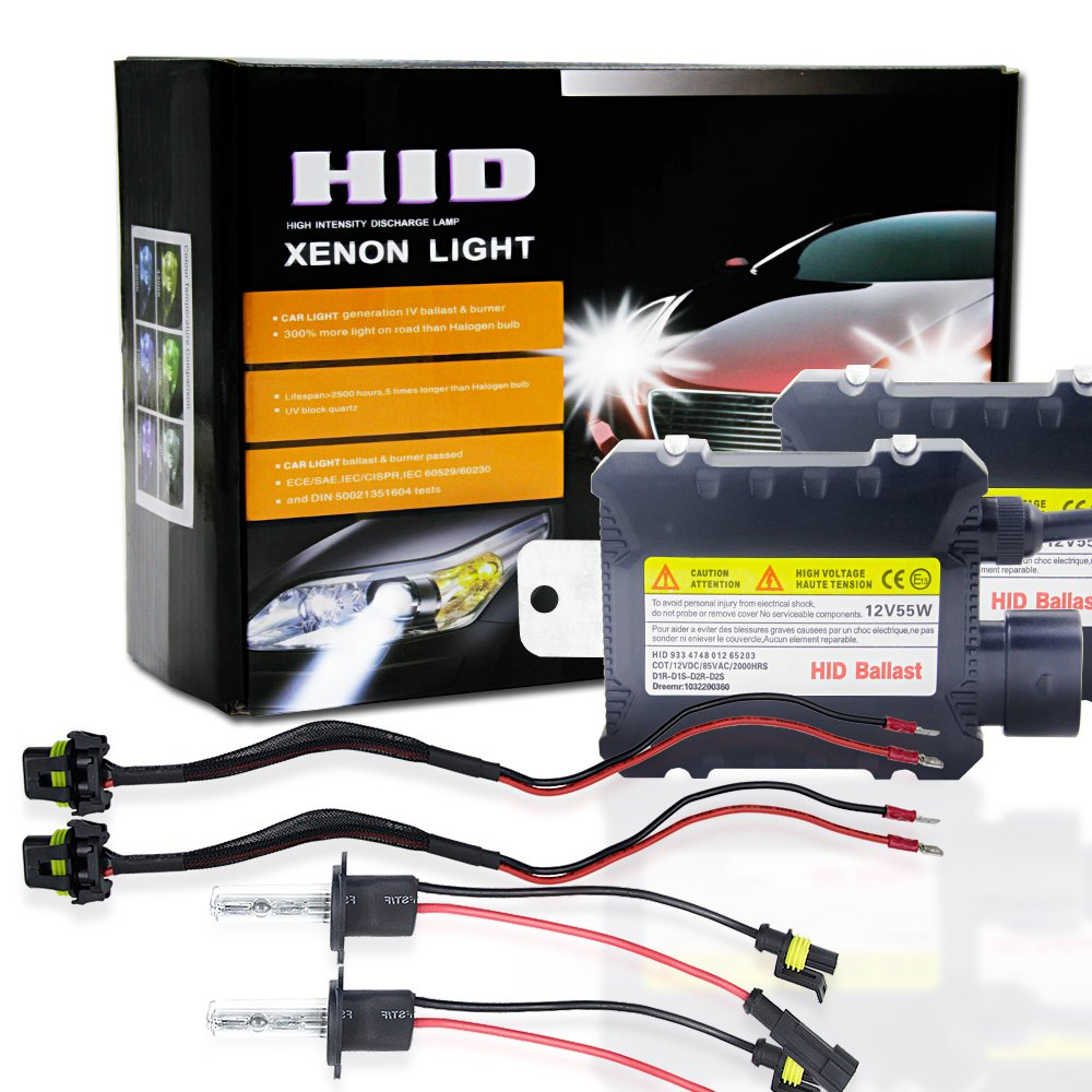 Ocamo 2pcs/set 55W H1 HID Xenon Headlight Bulbs Conversion KIT 3000-12000K for Car