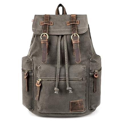 42be0aa32 Amazon.com: Canvas Backpack, P.KU.VDSL-AUGUR Series Vintage Canvas ...