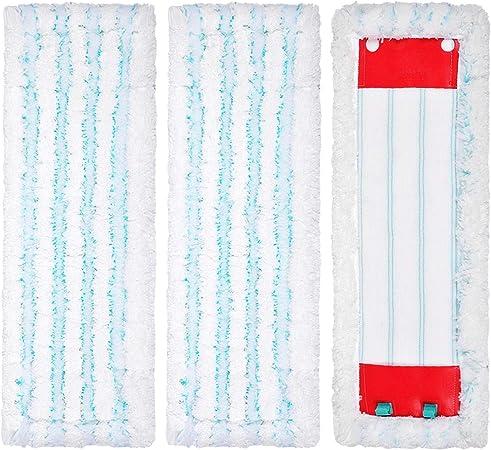 Keepow 3 Mikrofaserpads Kompatibel Mit Leifheit Profi Xl Bodenwischer Saugfähigen Und Reinigungsstarken Bodenwischbezügen Neues Material