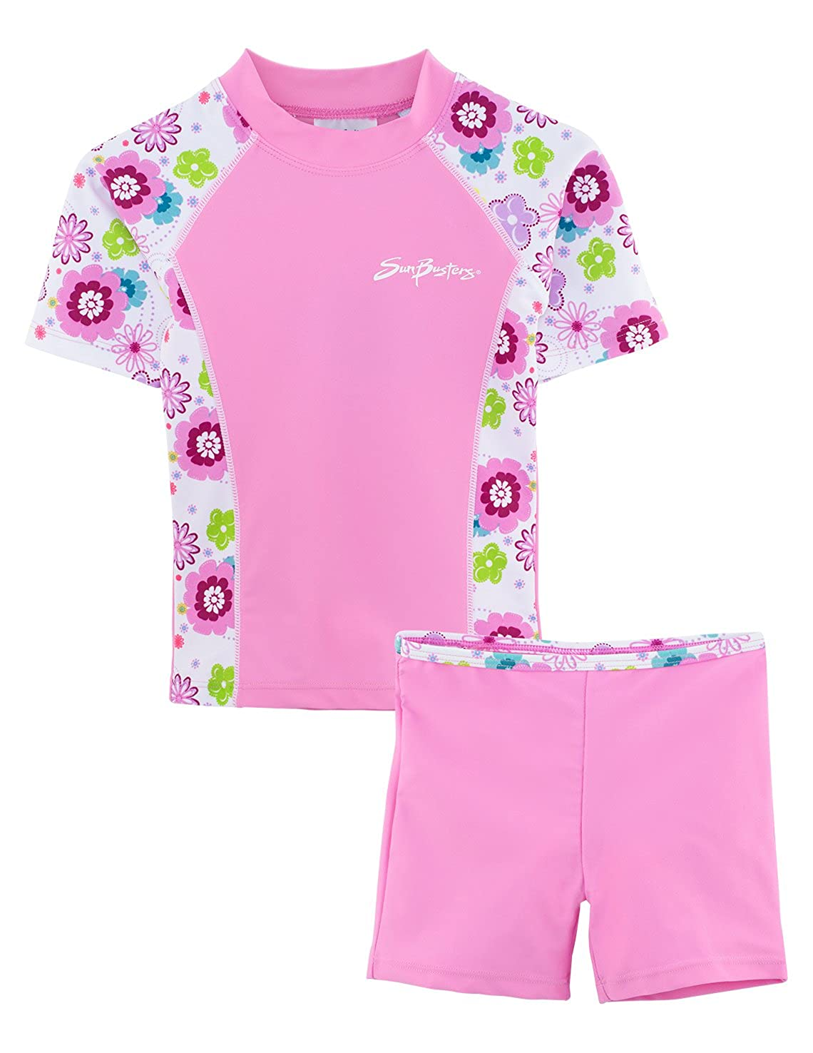 SunBusters Girls Fitted Swim Set 12 mos-12 yrs, UPF 50+ Sun Protection Plangea