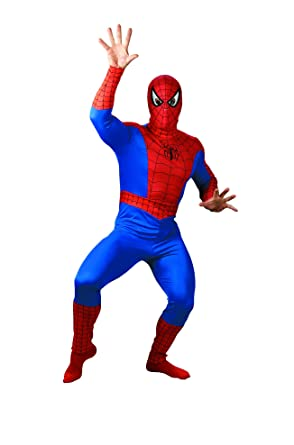 Spider-Man Adult Halloween Costume XL  sc 1 st  Amazon.com & Amazon.com: Spider-Man Adult Halloween Costume XL: Clothing