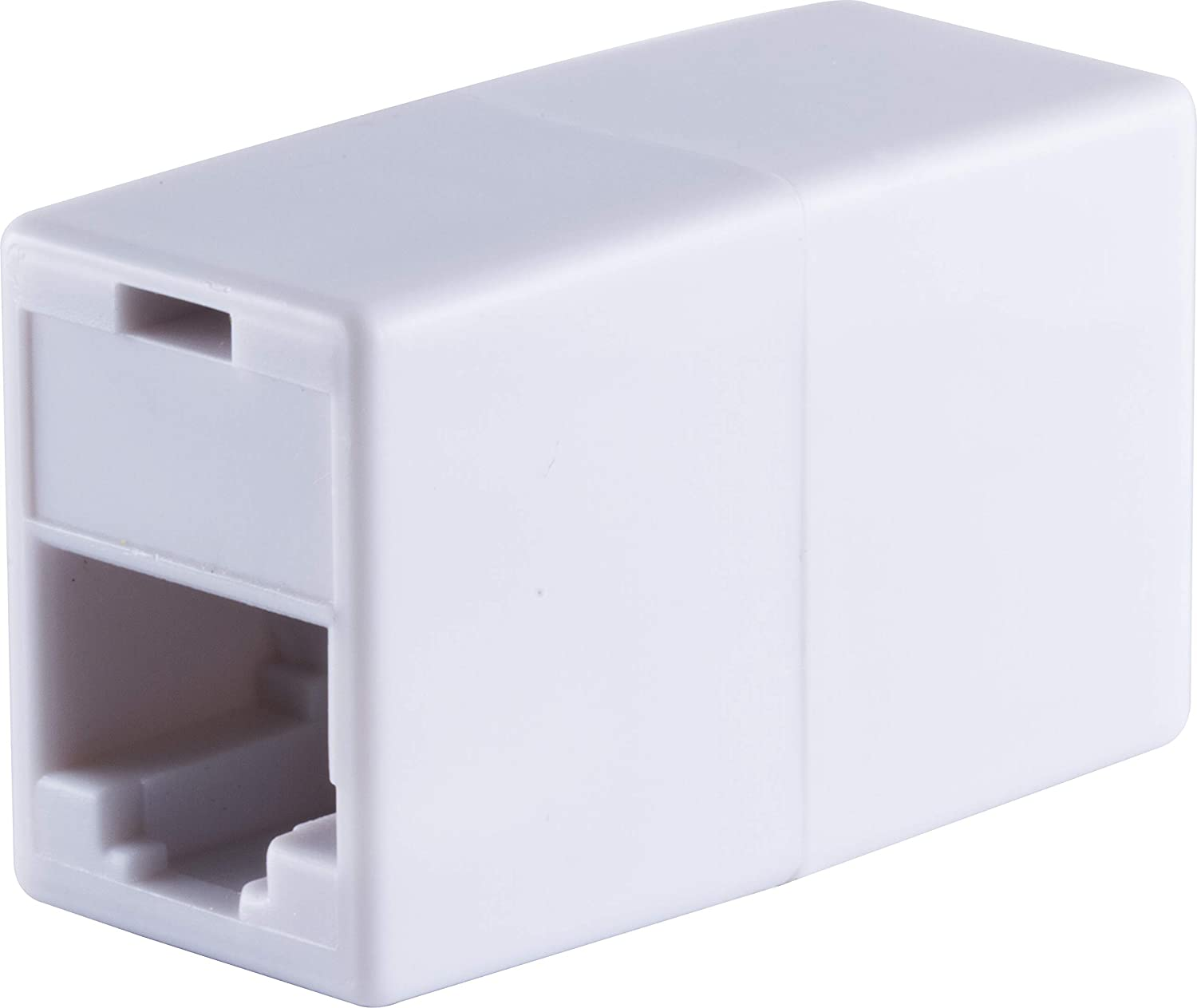 GE Ethernet Cable Extender, RJ45 Coupler, Works with Modems, Routers, Hubs, Compatible with CAT5, CAT5E, CAT6, White, 33798