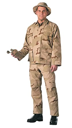 91df23b44a Image Unavailable. Image not available for. Color: Camouflage Military BDU  Pants, Army Cargo Fatigues (Tri-Color Desert ...