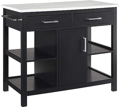 Amazon Com Crosley Furniture Audrey Faux Marble Top Kitchen Island Furniture Decor