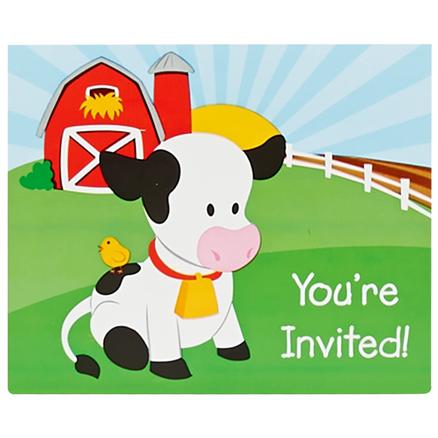 Amazon Farm Animal Party Supplies Invitations 8 Toys Games