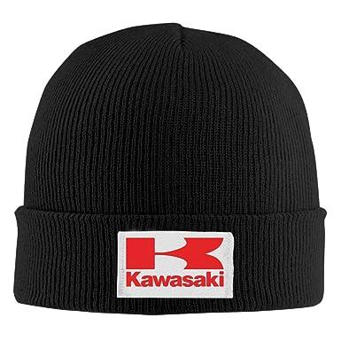 aa1090e2ddf Amazon.com  Laua Funi-5 Unisex Kawasaki Logo Knitting Wool Warm Hat ...
