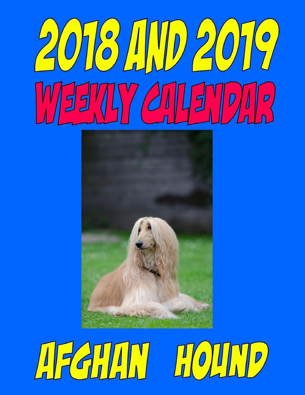 Download 2018 and 2019 Weekly Calendar Afghan Hound: Two Year Calendar, quotes, to do list, and more pdf