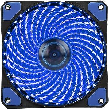 Cool/&Quiet 15 Blue//Green LED Desktop Pc Computer Good Case Cooling Fan uL