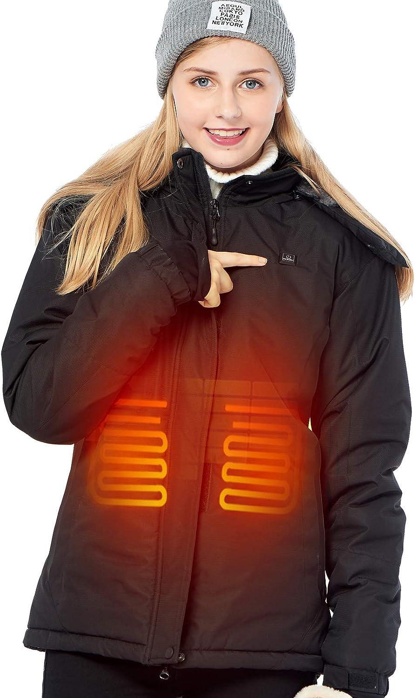 DEWBU Chaleco Calefactable con 7.4v Bater/ía Chaleco Calefactor El/éctrico para Invierno al Aire Llibre para Hombre