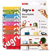 Sugru I000950 Moldable Multi-Purpose Glue for Creative Fixing and Making, Red, Blue, Yellow, Gray, Green, Brown, Orange…