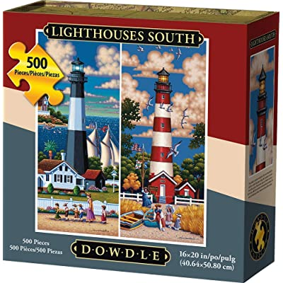 Dowdle Jigsaw Puzzle - Lighthouses South - 500 Piece: Toys & Games