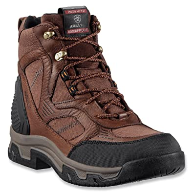 Ariat Mens Coffee Boots Creston H2O Insulated