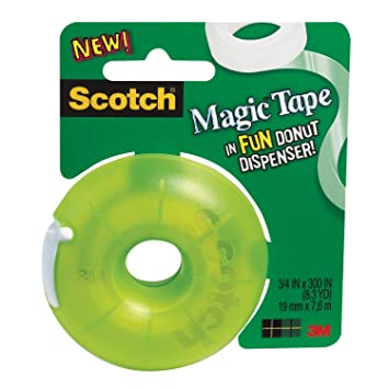 Scotch Magic Dispensador de cinta con donut, 300 cm de largo x 3/4