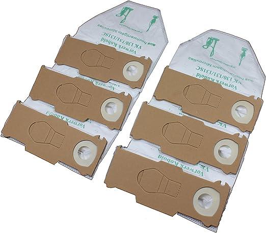 6 Bolsas de aspiradora Premium Papel para Vorwerk Kobold 130, 131 y 131sc: Amazon.es: Hogar