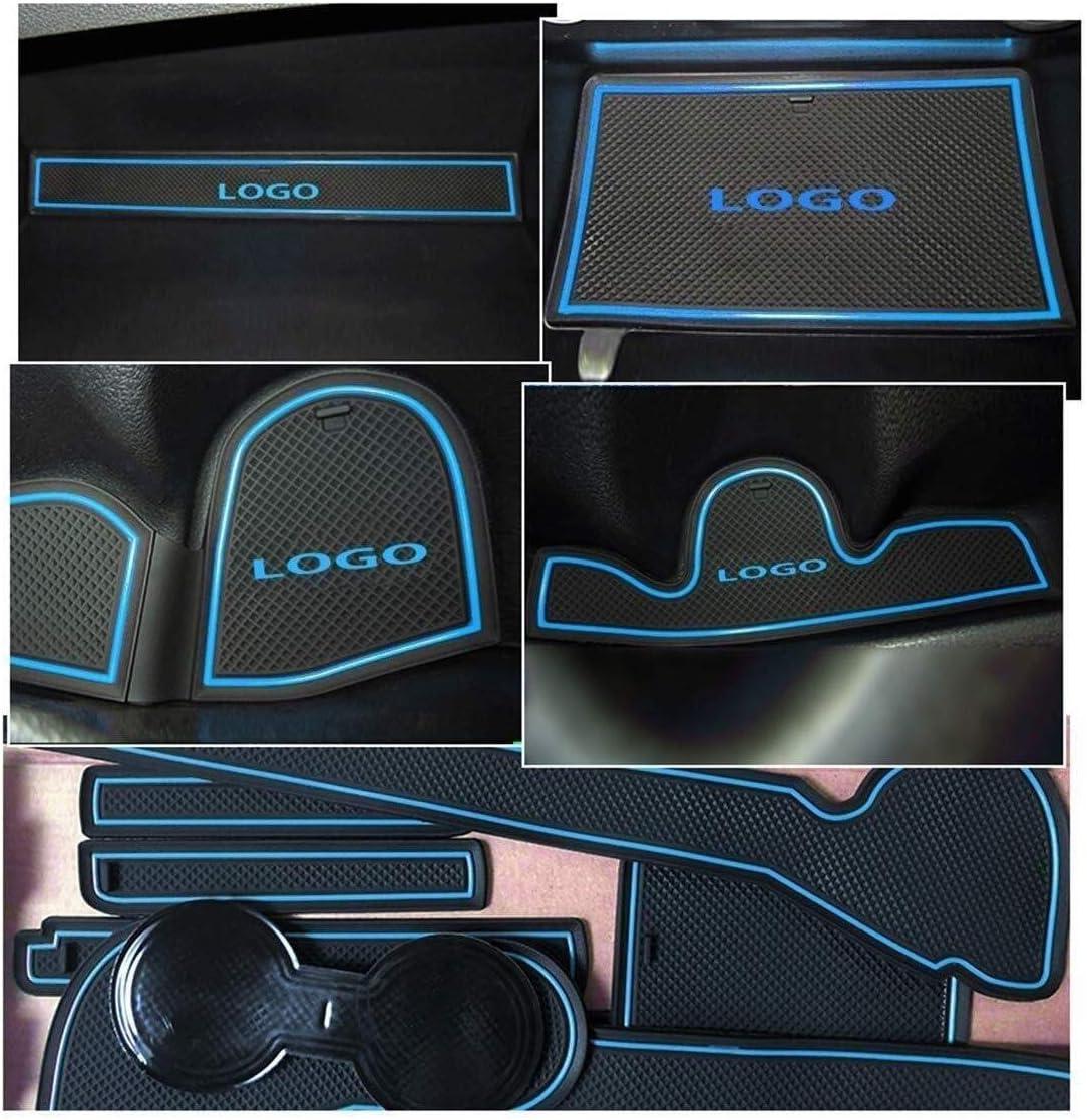 Size : White for Hyundai Tucson TL 2016-2019 Groove Porte automatique Tapis daccessoires Bo/îte de rangement en caoutchouc anti-d/érapant Tapis Voiture Porte int/érieure Tapis /à sous