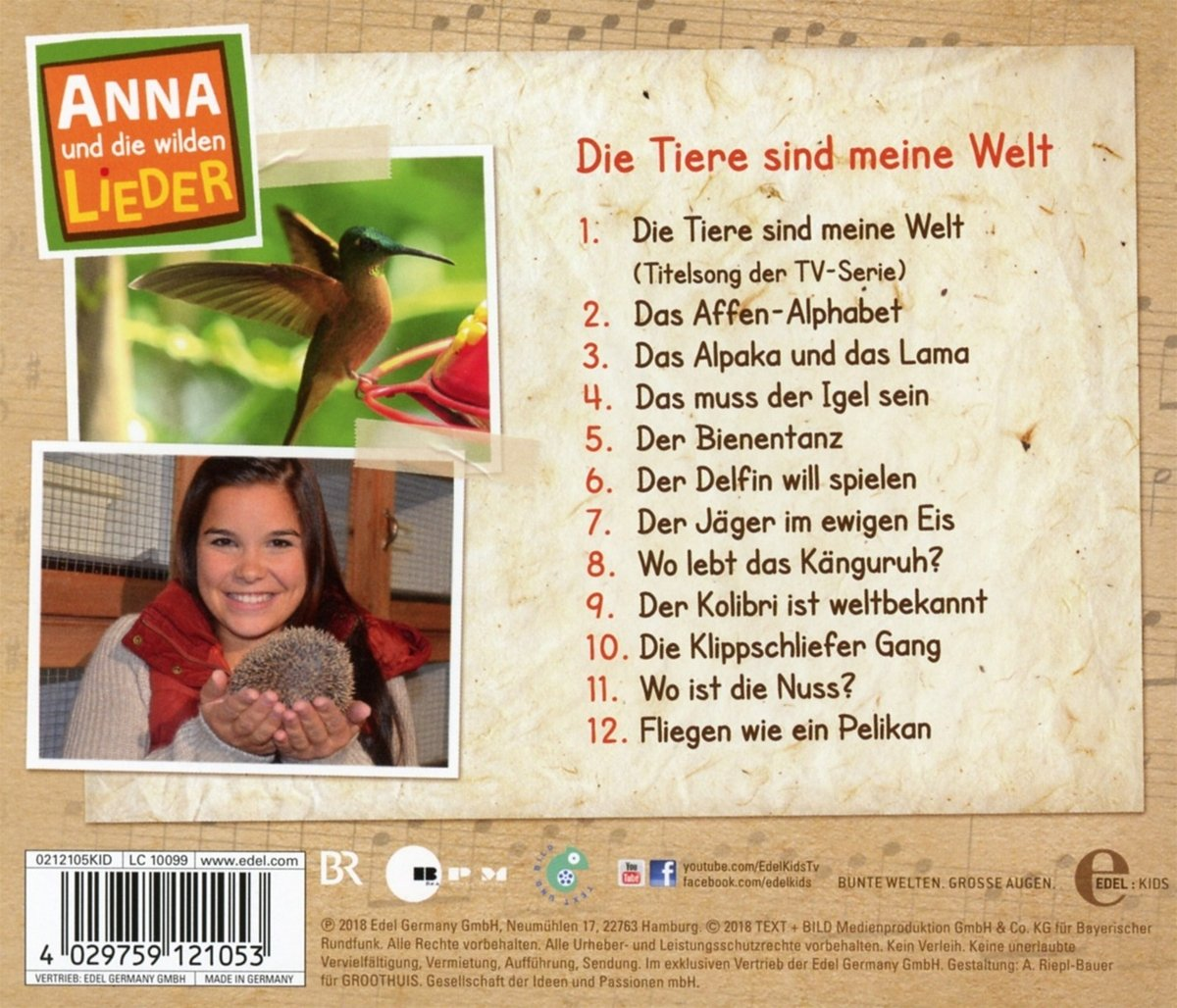 Anna Und Die Wilden Tiere Liederalbum Amazon Com Music