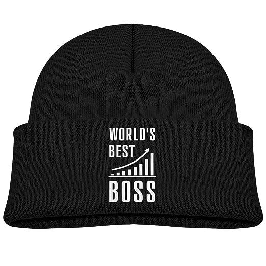 Amazon.com  World s Best Boss Skull Hat Beanies Cap 0-3 Old Infant ... 177fb0a8c2b