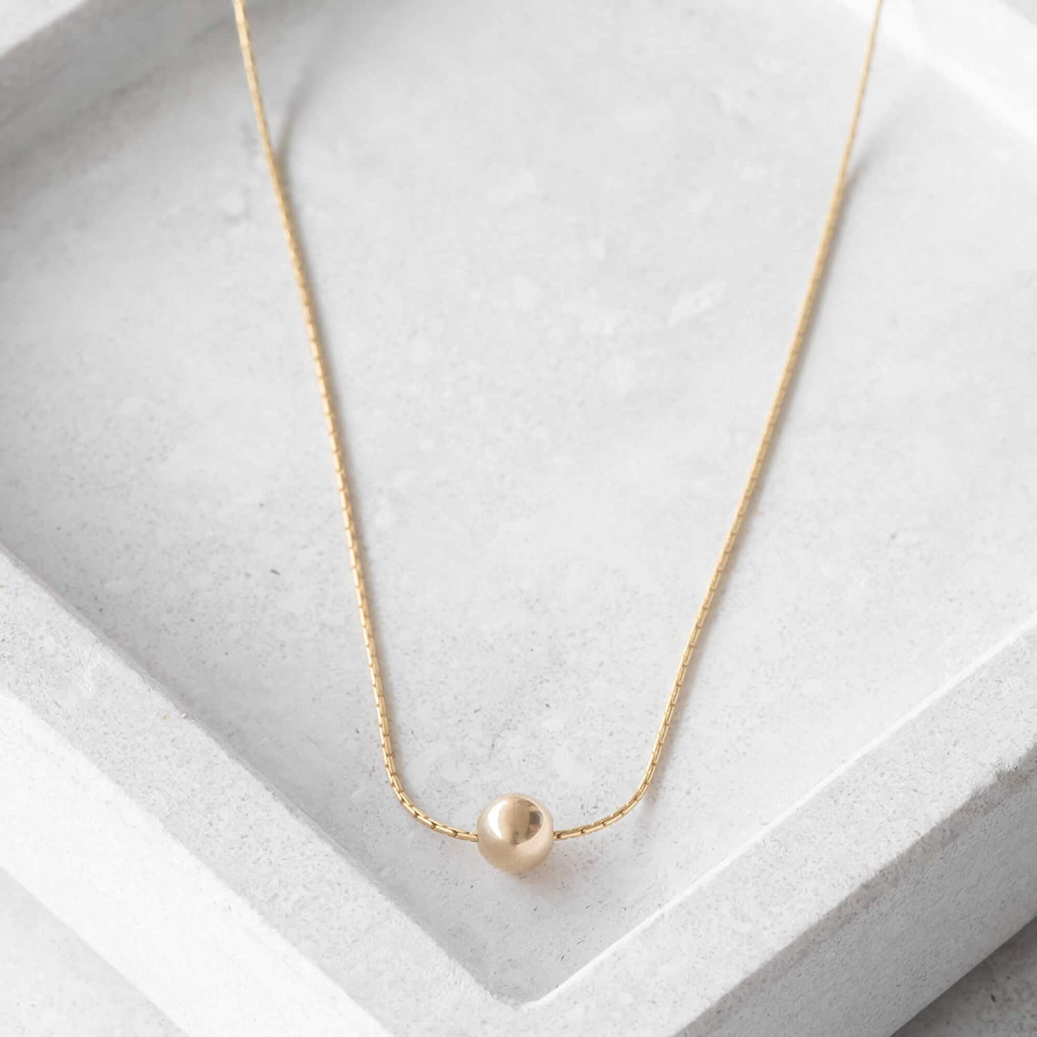 Galis Sterling Silver Ball Chain Necklace The Perfect Minimalism Jewelry for Her