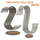 20 Pack Two Sizes Heavy-Duty Stainless Steel S