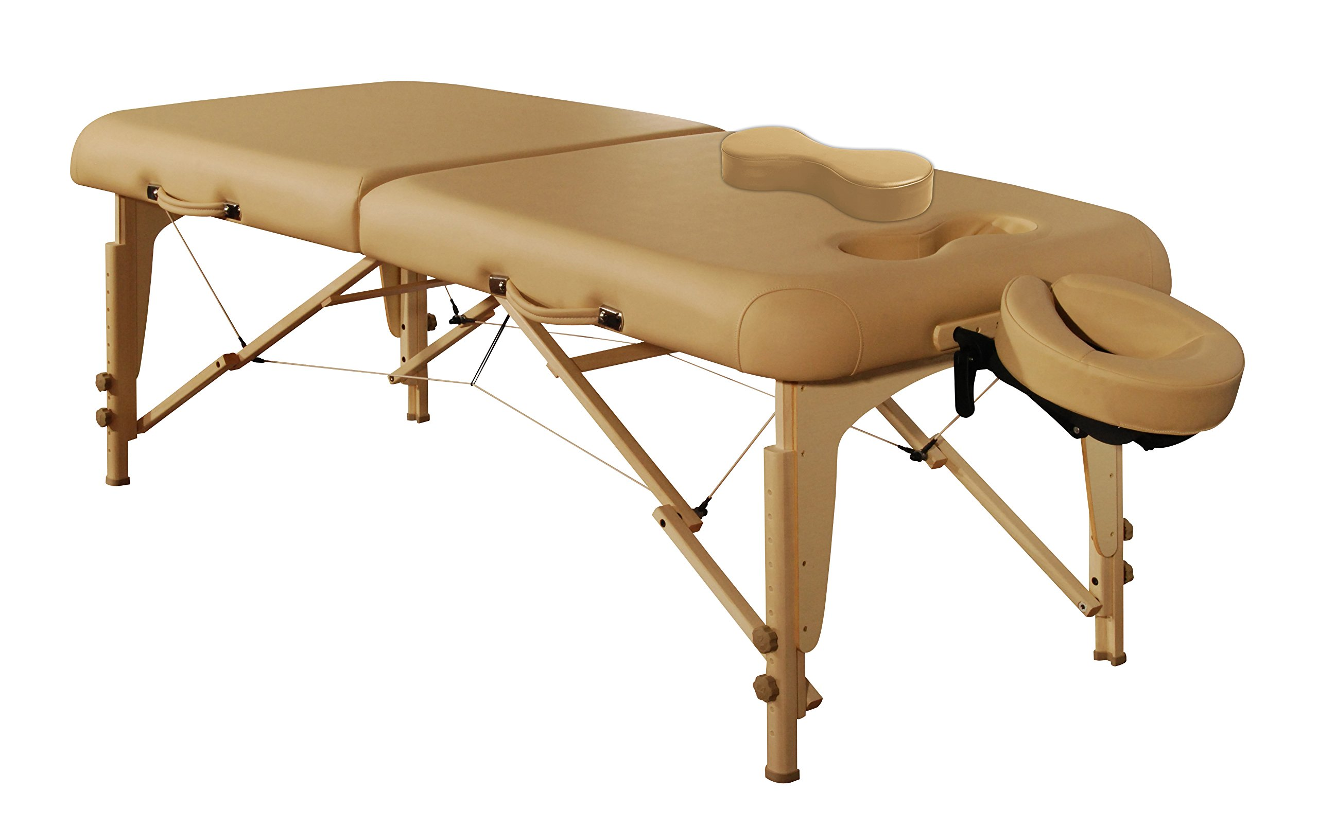 Mt Massage Midas-Girl 30'' Breast Recess Professional Portable Massage Table Package(Beige)