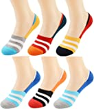 ME Stores Men's Anti Skit Loafer Socks (Multicolor, Large) -Pack of 6