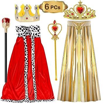 vamei Disfraces de niños Disfraz de Reina Disfraz de Rey Conjunto ...