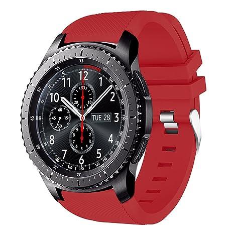 Bracelet Gear S3Frontier/Classic Amerteer, Bracelet de remplacement en silicone souple pour