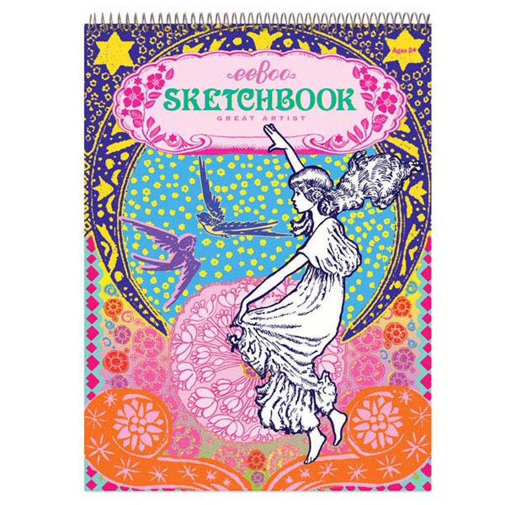 eeBoo Girl with Stars Sketchbook